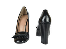 Pair of Black Loafer Shoes Royalty Free Stock Photos