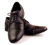 Pair of black male shoes Stock Image