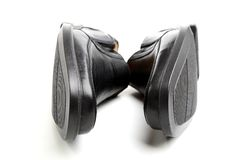 Pair of black man's shoes Stock Photography