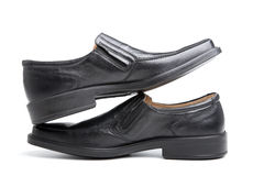 Pair of black man's shoes Royalty Free Stock Photography