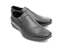 Pair of black man's shoes Stock Image
