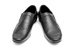 Pair of black man's shoes Stock Images