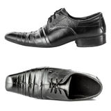 A pair of black man shoes isolate Stock Photography