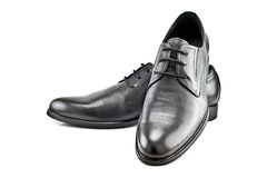 A pair of black men's classic shoes Royalty Free Stock Image