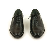 Pair of black men's dress shoes Royalty Free Stock Image