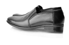 A pair of black men's shoes Stock Photography