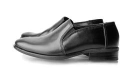 Pair of black men's shoes Stock Photo