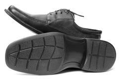 Pair of black shoe Stock Photos