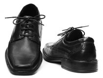 Pair of black shoe Royalty Free Stock Image
