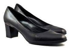 Pair of black shoes Stock Image