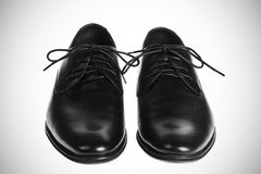 Pair of black shoes Stock Photography