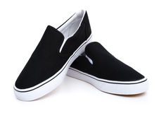Pair of black sneakers Stock Image