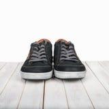 Pair of black sneakers Royalty Free Stock Images