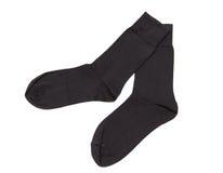 Pair of black socks Royalty Free Stock Photography