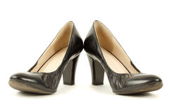 Pair of black women's high heels Royalty Free Stock Photography