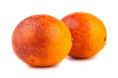 Pair of blood red oranges Stock Photos