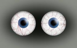 Pair of blood shot eyes. Stock Images