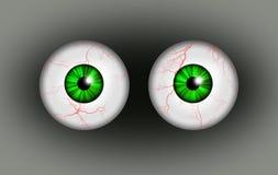 Pair of blood shot eyes. Stock Photography