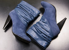 A pair of blue  boots Royalty Free Stock Photography