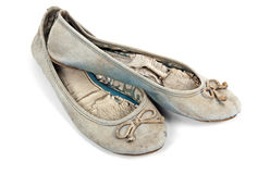 Pair of Blue Faded Worn-out Pair of Shoes Royalty Free Stock Images