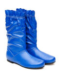 Pair of blue female boots Stock Photo