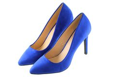 A pair of Blue high heels Royalty Free Stock Photo