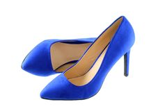 A pair of Blue high heels Royalty Free Stock Photography