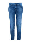 Pair of Blue Jeans. Isolated on white Stock Image