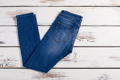Pair of blue jeans. Royalty Free Stock Photos