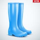 Pair of blue rain boots Stock Photo