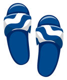 Pair of blue sandals Royalty Free Stock Images