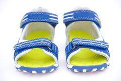 Pair of blue sandals for kid Stock Photography