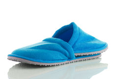 A pair of blue slippers Royalty Free Stock Photography