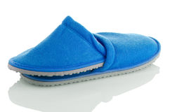 A pair of blue slippers Royalty Free Stock Images