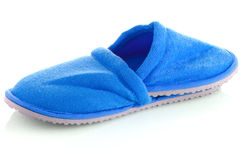 A pair of blue slippers Royalty Free Stock Photos
