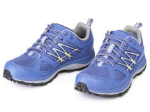Pair of blue sport shoe Stock Images