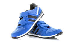 Pair Of Blue Training Shoes Stock Photography