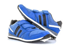 Pair Of Blue Training Shoes Stock Photos