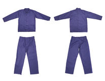 Pair of blue work wear. Royalty Free Stock Photos
