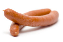 Pair of Boiled Sausages Royalty Free Stock Images