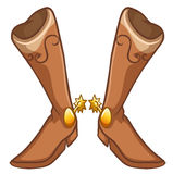 A pair of boots with a gold design Royalty Free Stock Images
