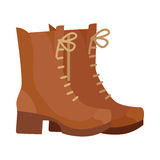 Pair of Boots Vector Illustration in Flat Design Stock Image