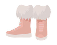 Pair of Boots Vector Illustration in Flat Design Royalty Free Stock Images