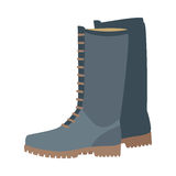 Pair of Boots Vector Illustration in Flat Design Royalty Free Stock Image