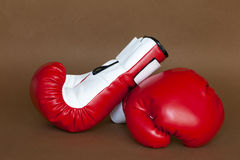 A pair of boxing gloves Royalty Free Stock Images