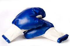 Pair of boxing gloves on white Stock Photos
