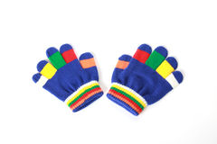 Pair of the bright baby gloves Stock Photography