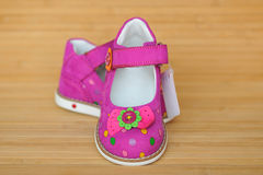A pair of bright girly sandals Royalty Free Stock Photography