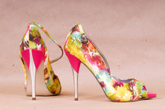 Pair of bright shoes Stock Photography