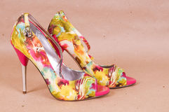 Pair of bright shoes Royalty Free Stock Photography